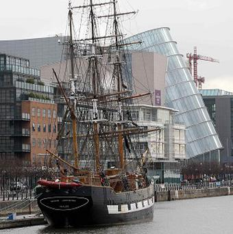 A student group is to hold a protest on board the Irish famine ship Jeanie Johnston in Dublin