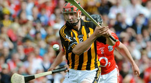 Eoin Larkin scores a crucial goal for Kilkenny during the corresponding fixture in 2008 - one of the few occasions the Cats have found the net against Cork during the Cody era.