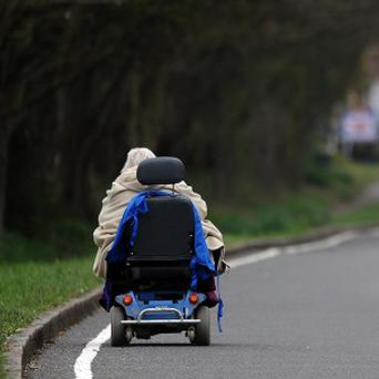 A pensioner on a mobility scooter is one of the things the French associate with 'Britishness'