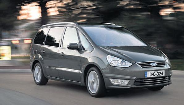 WELL EQUIPPED: The Ford Galaxy, starts with a price tag of €40,925.