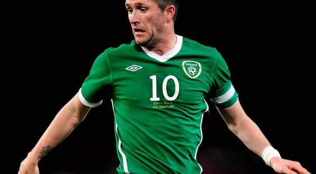Robbie Keane will collect his 100th cap tomorrow. Photo: Getty Images