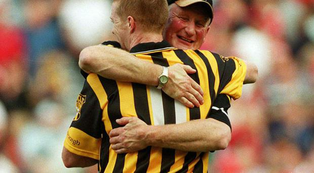 Brian Cody embraces his talisman Henry Shefflin after the 2003 All-Ireland final.