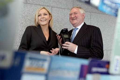 Marketing manager of the Irish Payment Services Organisation (IPSO) and chief executive Pat McLoughlin at the release of IPSO's 2009 annual review recently
