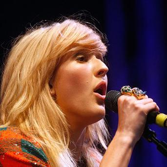 Ellie Goulding pounds the track for song-writing inspiration