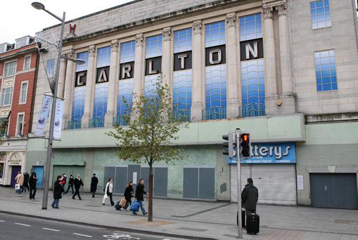 DERELICT: Carlton Cinema site on Dublin's O'Connell St