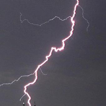 Lightning struck an unlucky 13-year-old boy on Friday 13