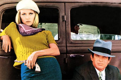 Faye Dunaway and Warren Beatty as Bonnie and Clyde in the 1967 film