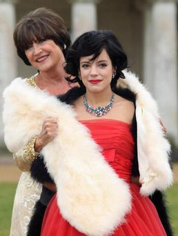 CHICHESTER, ENGLAND - FEBRUARY 25: Sandie Shaw and Lily Allen attends photocall to launch Vintage At Goodwood - upcoming 3 day festival to celebrate the fashion and music of past decades at Goodwood on February 25, 2010 in Chichester, England. (Photo by Danny Martindale/WireImage)