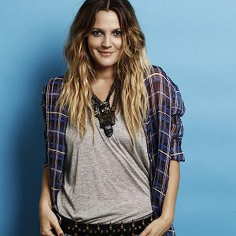Drew Barrymore was relaxed about filming steamy scenes with Justin Long