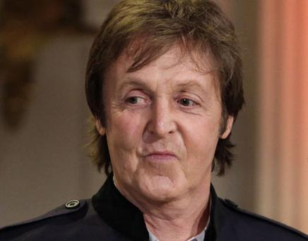 Paul McCartney signed a fans back in Philadelphia. Photo: Getty Images
