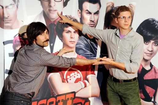 Jason Schwartzman and Michael Cera at the film's premiere in Cineworld, Dublin, yesterday