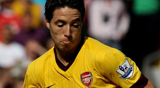 Samir Nasri will be out of action for a moth. Photo: Getty Images