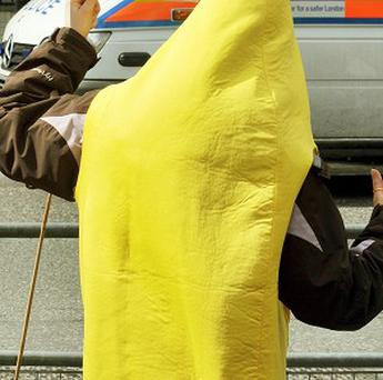 Police are hunting a man dressed as a banana