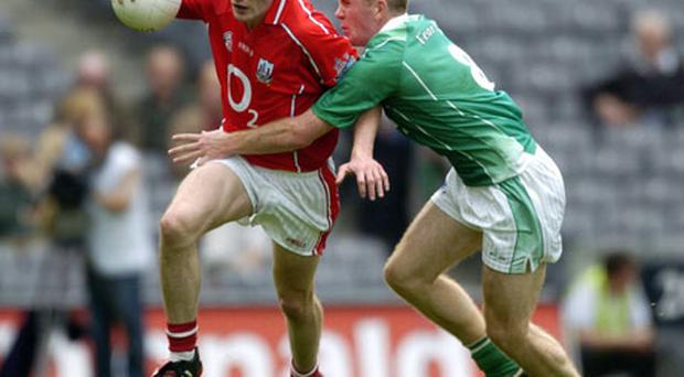 Cork's Graham Canty in action against Martin McGrath during the Rebels' shock defeat to Fermanagh in 2004. Canty has been a strong part of the revival in the county's football fortunes.