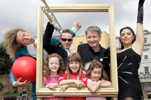 In the frame at the launch yesterday were Con Horgan of the Fanzini Brothers; trumpet player Danny Healy of Dublin City Jazz Orchestra; Dermot McLaughlin, CEO of Temple Bar Cultural Trust; tango dancer Nora Gomez; Ellen O'Keeffe (7); Ciara O'Connor (7) and Sarah O'Keeffe (5)