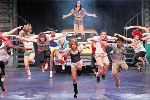 The dress rehearsal for 'Fame TheMusical', which will open tonight at the Grand Canal Theatre