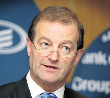 Former BoI chief executive Brian Goggin 'only' got €2m, down from €4m in his last year at the bank