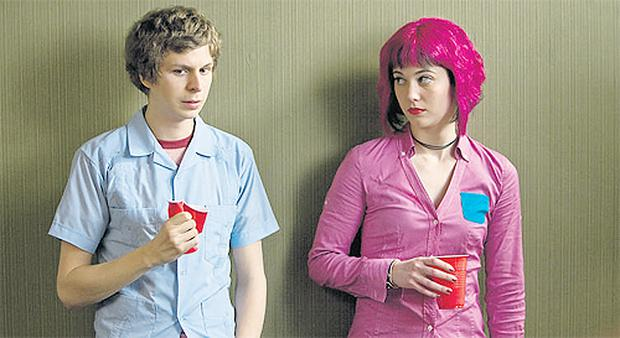 Michael Cera and 'Ramona' (Mary Elizabeth Winstead) in Scott Pilgrim vs The World