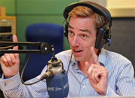 Ryan Tubridy took the helm at Gerry Ryan's 2fm seat yesterday - three days early