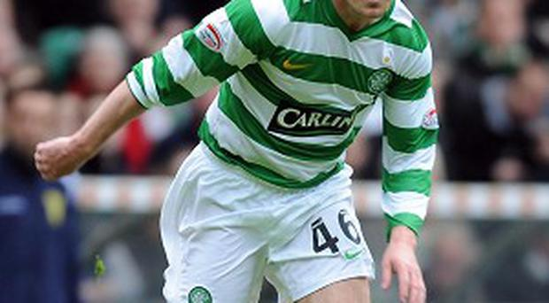 Aiden McGeady in action for Celtic