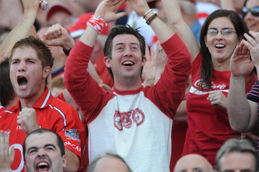 Jubilant Cork fans at the final whistle