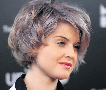 Kelly Osbourne adds her own mauve twist to the blue rinse