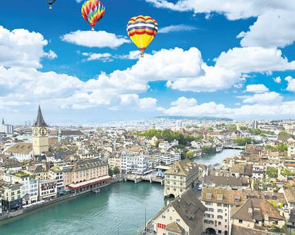 Zurich is surrounded by water