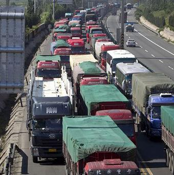A 60-mile traffic jam near Beijing, China, will continue until September 17