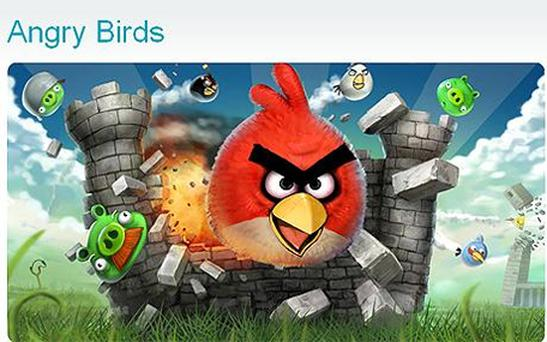 Angry Birds, the popular iPhone and iPad app, could become a movie and toy. Photo: Rovio