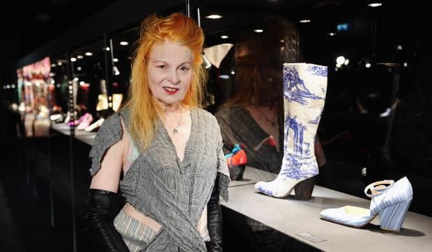 LONDON, ENGLAND - AUGUST 25: Vivienne Westwood attends the press view of 'Vivienne Westwood Shoes: An Exhibition 1973- 2010' at Selfridges Ultra Lounge on August 25, 2010 in London, England. (Photo by Ian Gavan/Getty Images)
