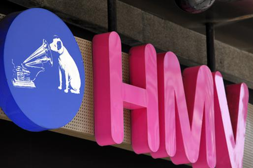 HMV's 38 largest stores will carry fashion lines affiliated with music from next month. Photo: Bloomberg News
