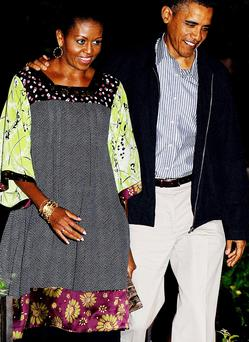 Michelle Obama wears Duro Oluwu. Photo: Getty Images