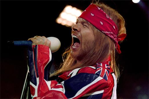 Axl Rose of Guns n' Roses closed the Leeds Fesitval with a foul-mouthed tirade. Photo: PA