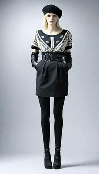 Tribal-knit dress, €230, Alice by Temperley