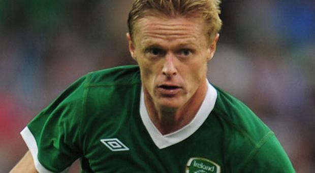 Damien Duff has withdrawn because of a calf problem picked up at the weekend. Photo: Getty Images
