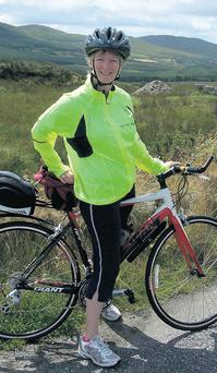Liz stops for a breather at Moll's Gap, where she was rewarded with views of the Black Valley