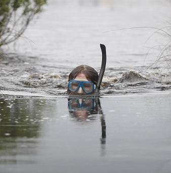 Record numbers of people went bog snorkelling in Wales