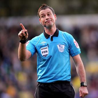 Mark Clattenburg, pictured, has been accused of using 'inappropriate language' towards John Obi Mikel