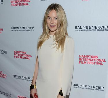 The actress made her first red carpet appearance after the birth of Marlowe at the Hamptions International Film Festival in October