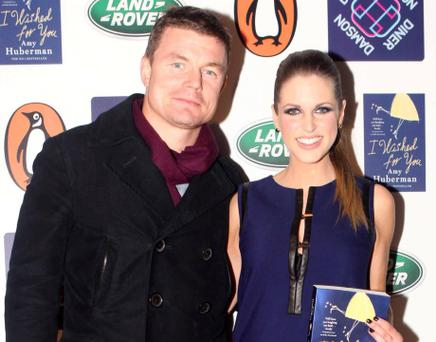 NO REPRO FEE. 7/11/2012. Pictured (LtoR) Brian O Driscoll and Amy Huberman launched her new book 'I Wished For You' at Damson Diner, 52 South William Street.Photo:Leon Farrell/Photocall Ireland.