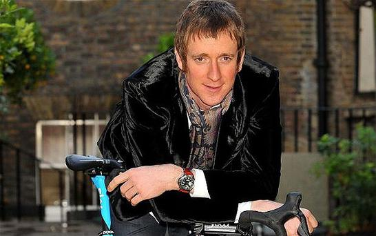 Taken to hospital: Bradley Wiggins was knocked off his bike close to his Lancashire home. Photo: PA