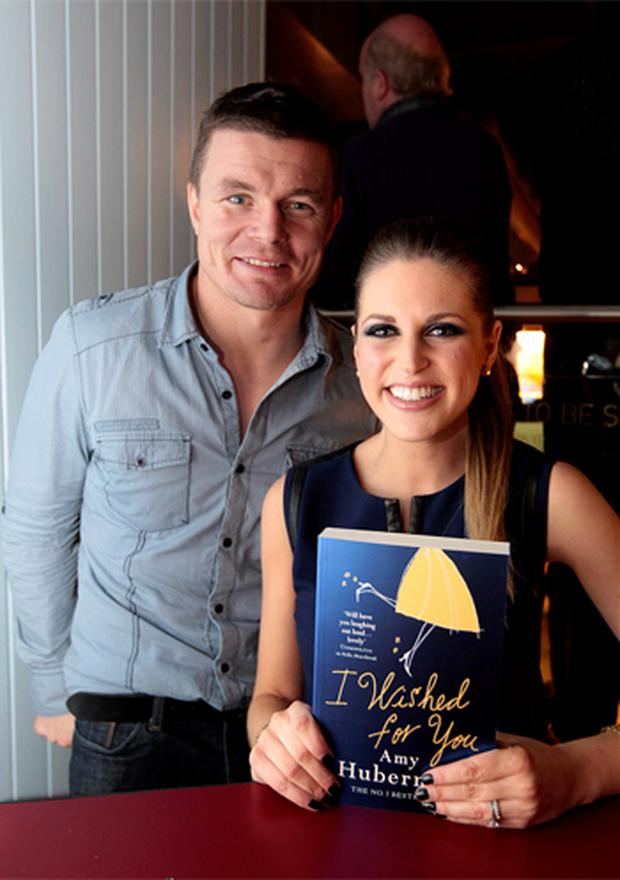 Brian O'Driscoll and Amy Huberman at the launch