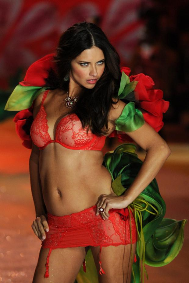 NEW YORK, NY - NOVEMBER 07: Victoria's Secret Angel Adriana Lima walks the runway during the Victoria's Secret 2012 Fashion Show on November 7, 2012 in New York City. (Photo by Bryan Bedder/Getty Images for SWAROVSKI ELEMENTS)