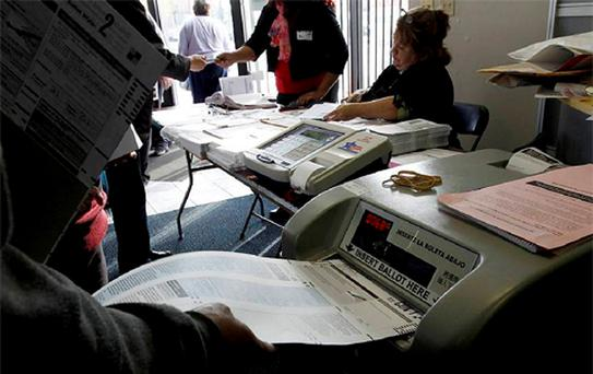 Rehoboth Town Clerk Kathleen Conti says one of the Massachusetts town's ageing voting machines malfunctioned.