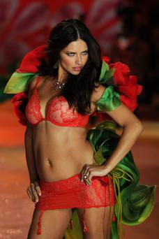 Victoria's Secret Angel Adriana Lima walks the runway during the Victoria's Secret 2012 Fashion Show on November 7, 2012 in New York City. (Photo by Bryan Bedder/Getty Images for SWAROVSKI ELEMENTS)