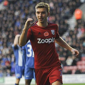 James Morrison scored the opening goal of the game for West Brom