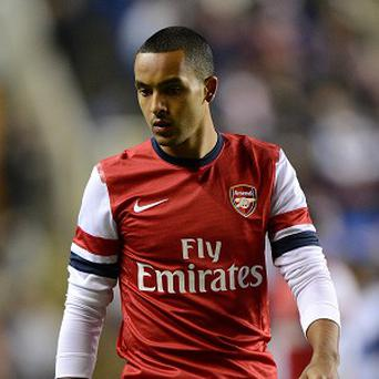 Theo Walcott was replaced against Fulham six minutes from time