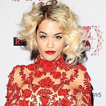 Rita Ora arrives for the 2012 MTV Europe Music Awards in Frankfurt, Germany