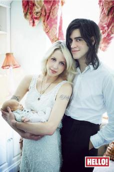 Peaches and Tom with their son Astala, who was born last year.