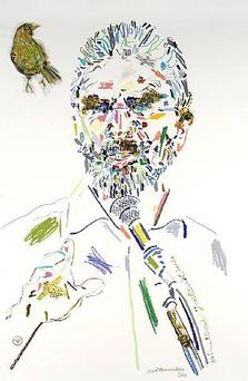 Gerry Adams by Conrad Atkinson.
